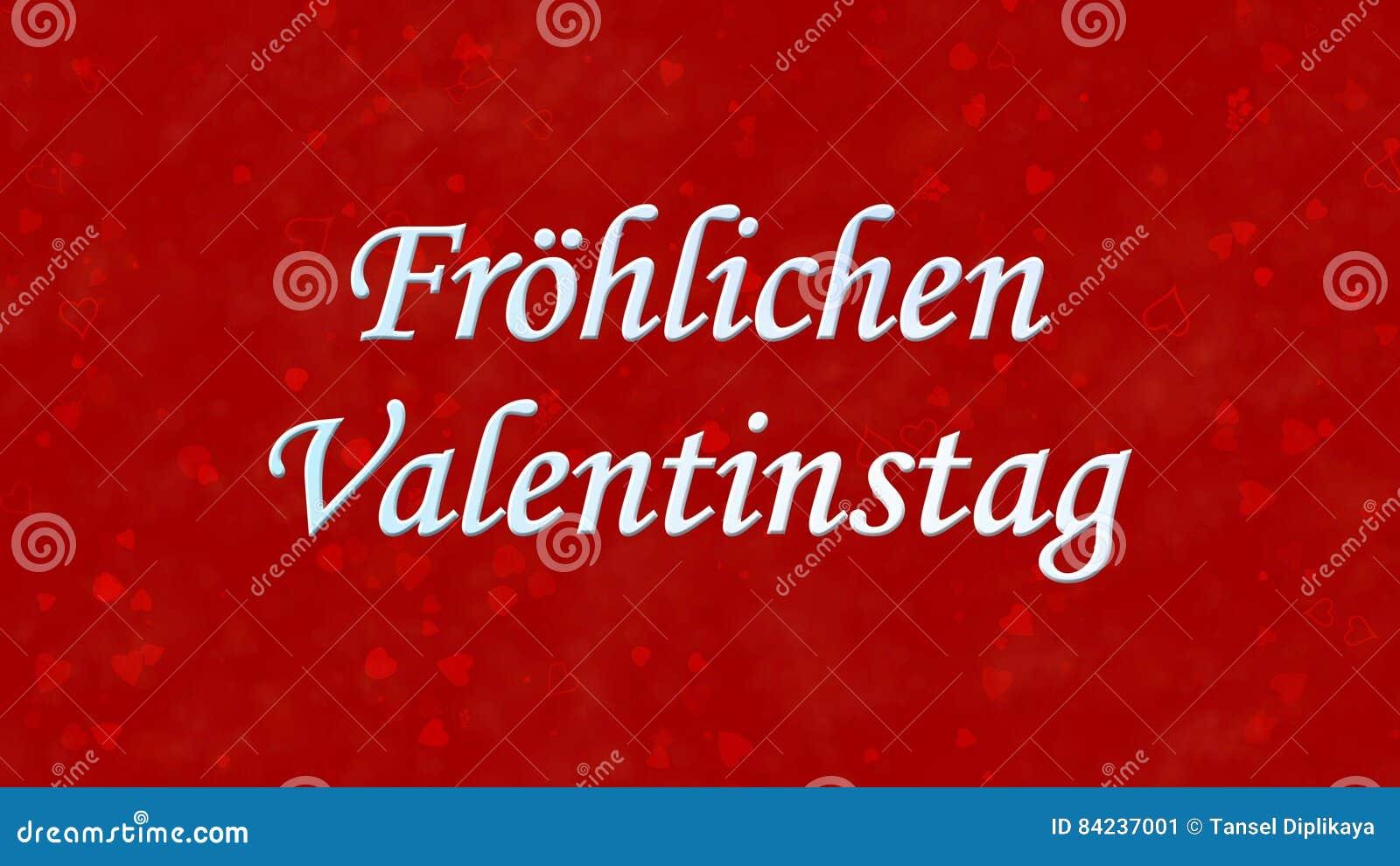 Happy Valentine S Day Text In German Frohlichen Valentinstag On Red