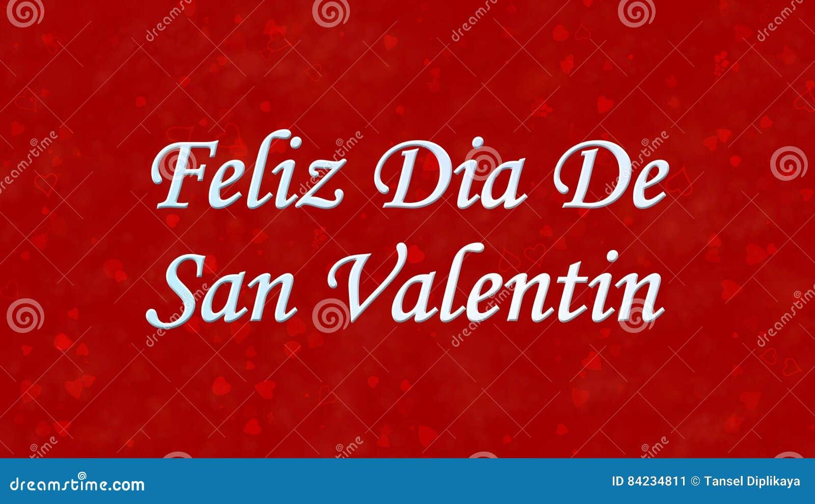 Happy Valentine S Day Text In Spanish Feliz Dia De San Valentin On Red  Background