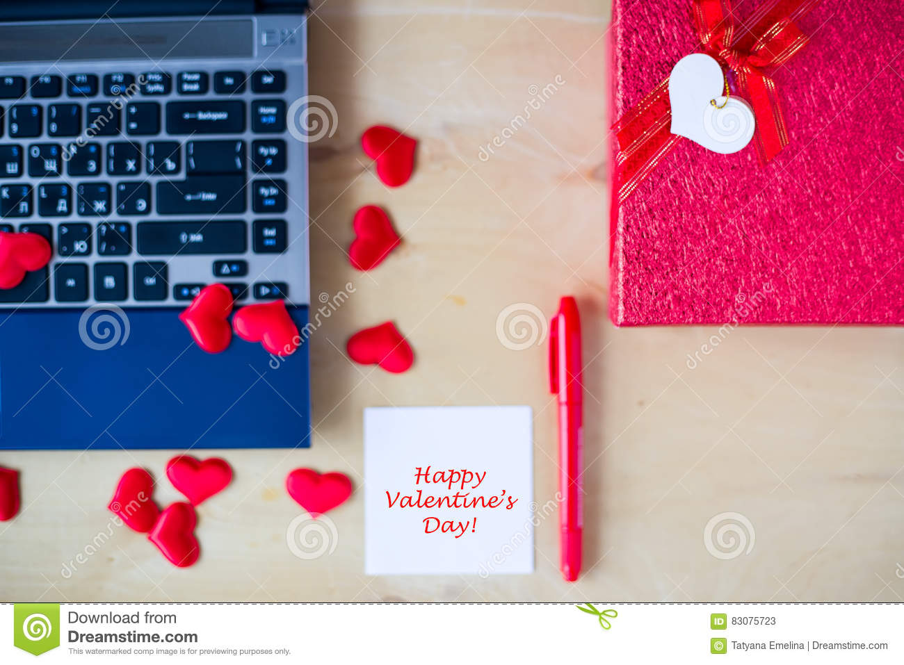 office valentine gifts. Royalty-Free Stock Photo Office Valentine Gifts