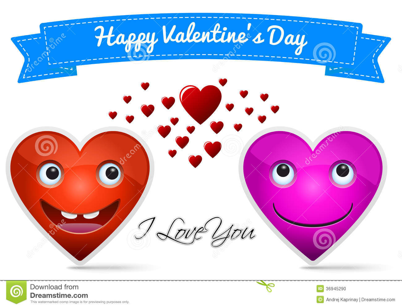 Happy Valentine S Day Stock Photo Image 36945290 Pictures Of Hearts That Say I You To Color