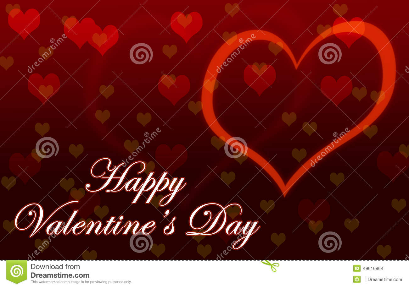 Happy Valentine's Day Wallpaper Stock Illustration - Image ...