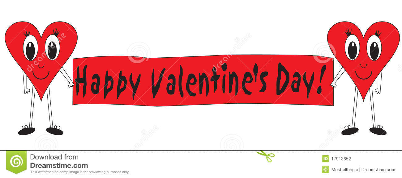 Happy Valentines Day Stock Illustration Illustration Of Hearts