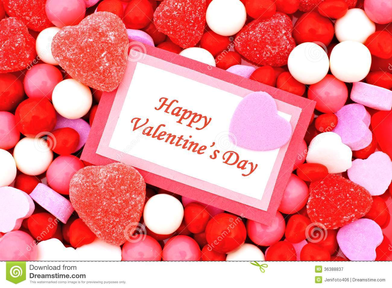 Happy Valentines Day Stock Image Image Of Heart Message 36388837