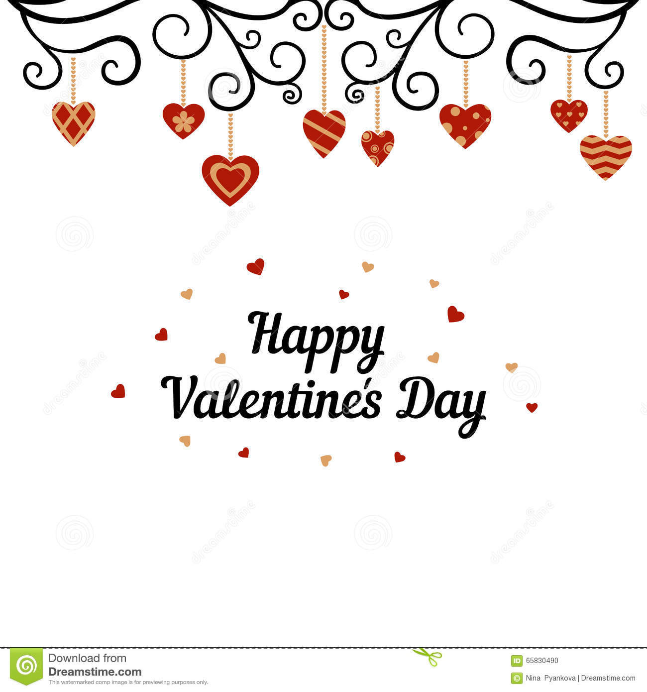 Happy Valentines Day Card Stock Photo Image Of Ornament