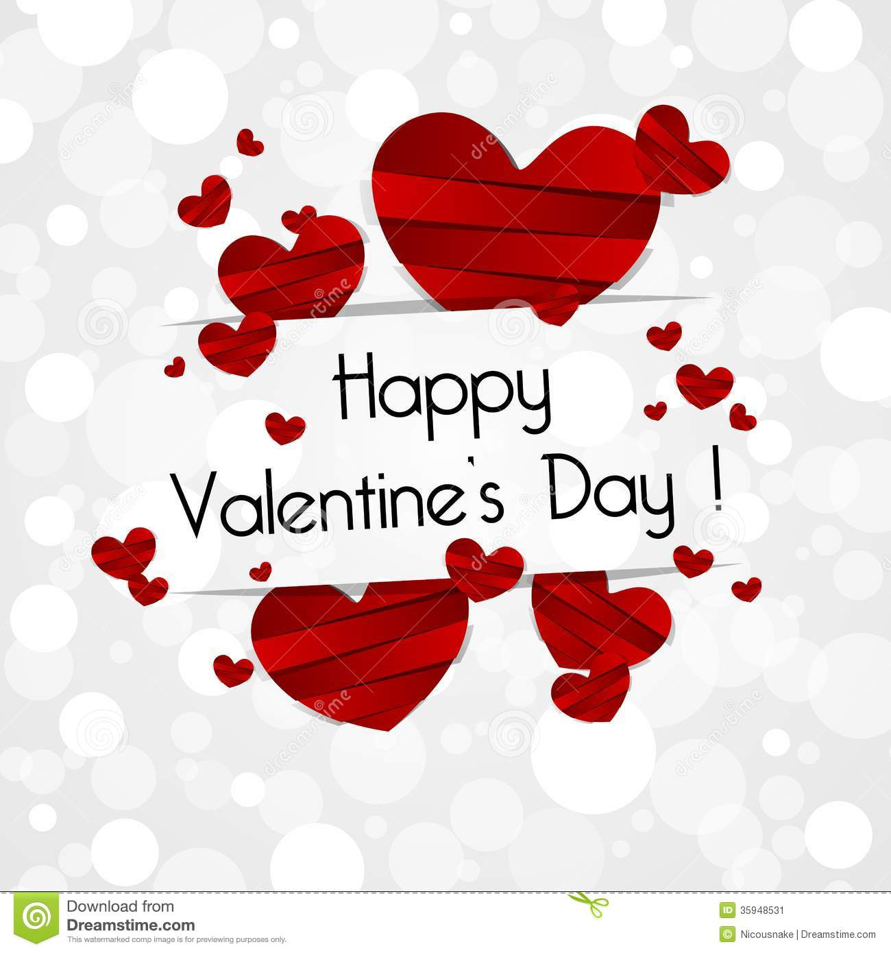 Happy Valentines Day Card Stock Vector Illustration Of Image 35948531