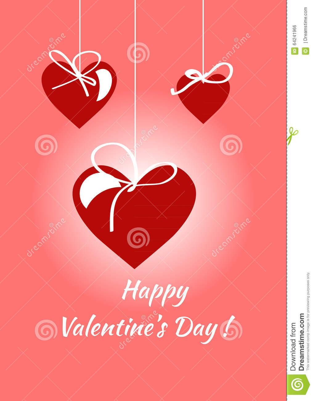 Happy Valentines Day Card Vector Flyer Background Stock Vector