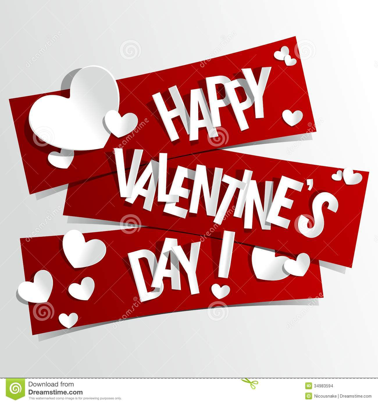 happy valentines day card stock vector illustration of heart 34983594