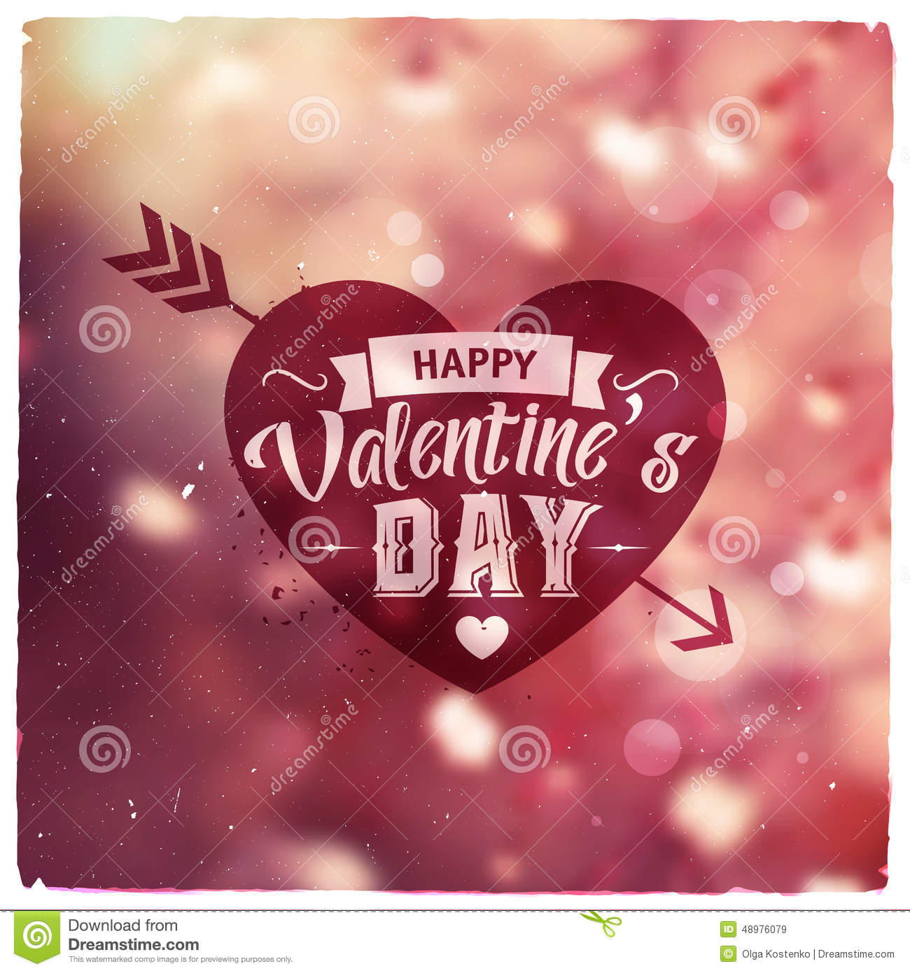 Happy Valentines Day Creative Graphic Message Stock Vector
