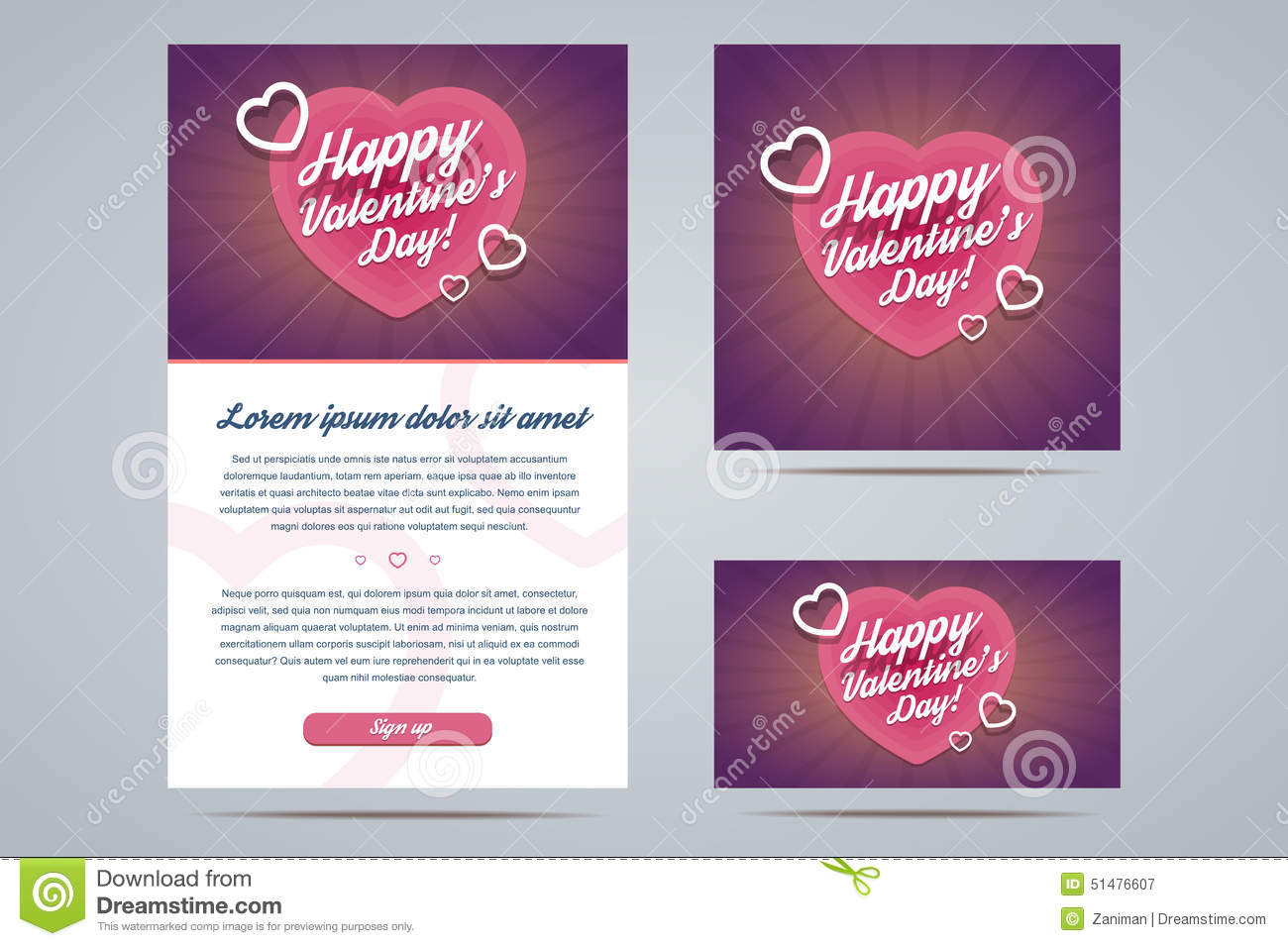 Happy valentines day email template stock vector illustration of happy valentines day email template m4hsunfo