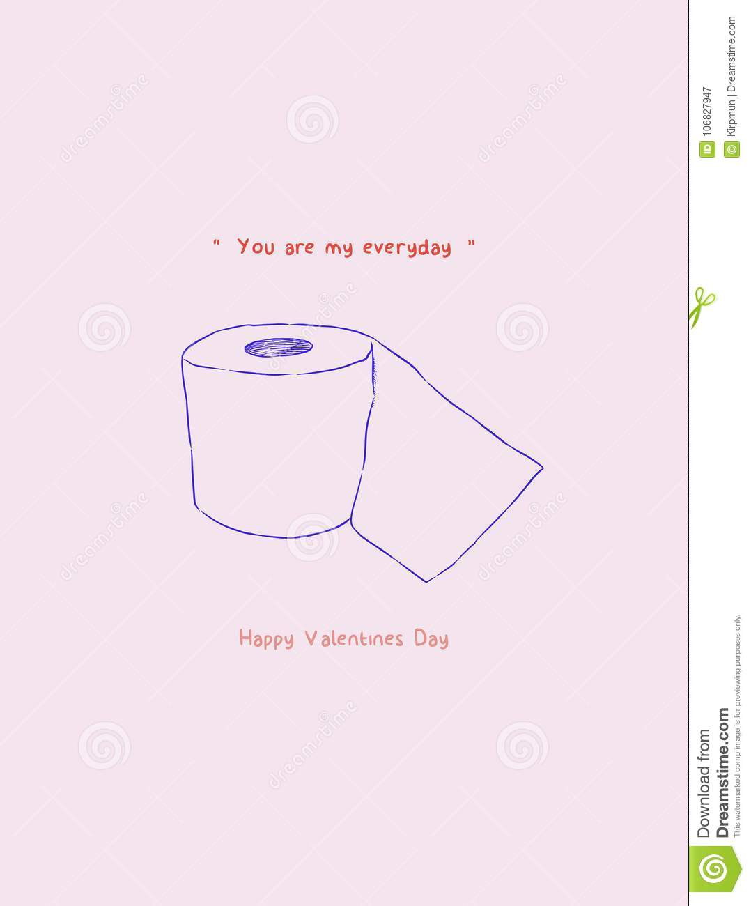 Happy Valentines Day Gift Card You Are My Every Day Concept Stock