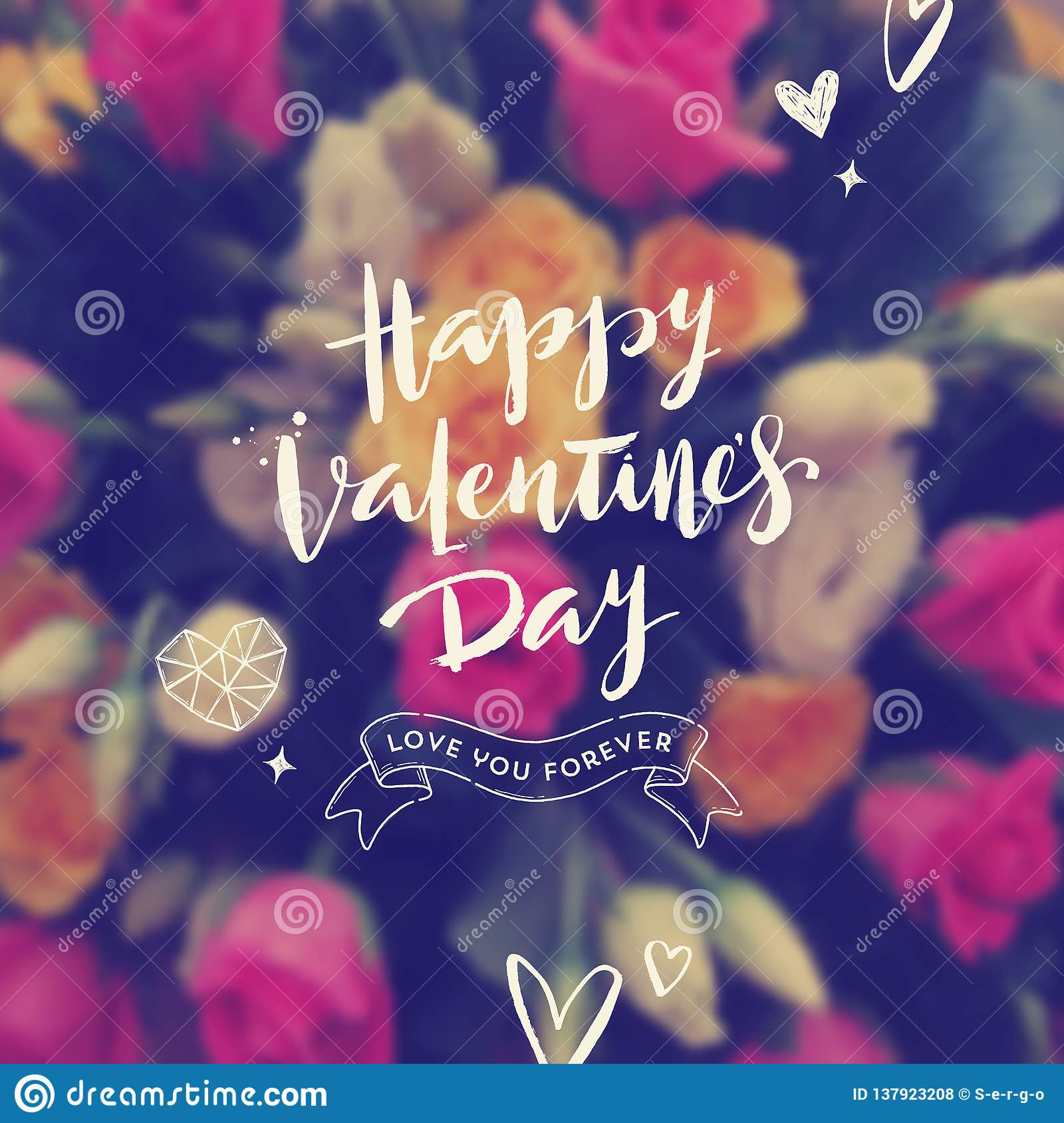 Happy Valentines Day - Greeting card.