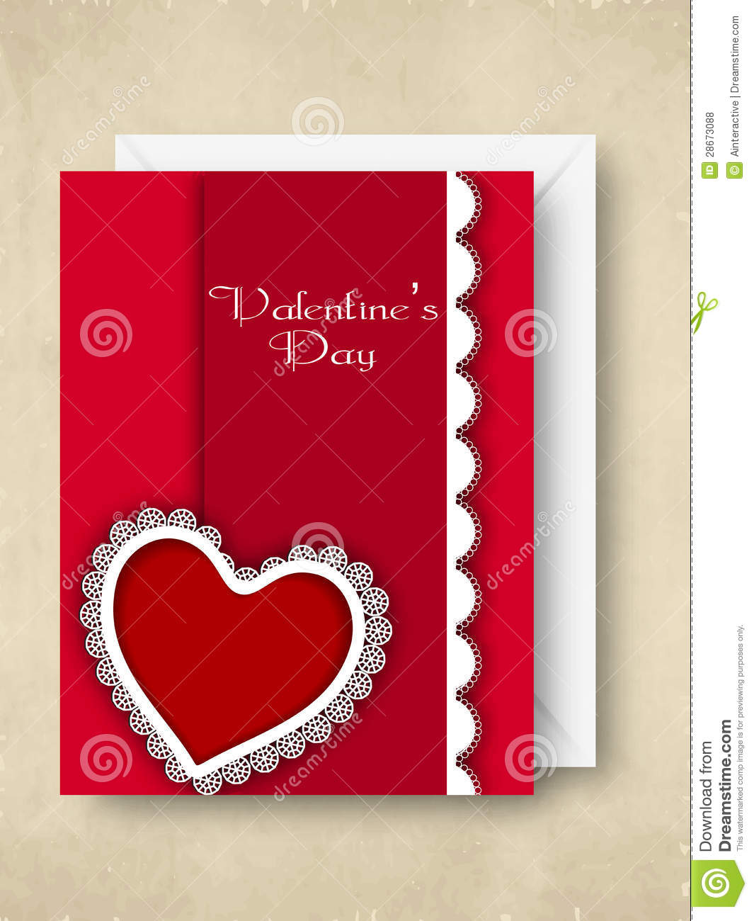 Happy Valentines Day Greeting Card Gift Card Or Background Stock