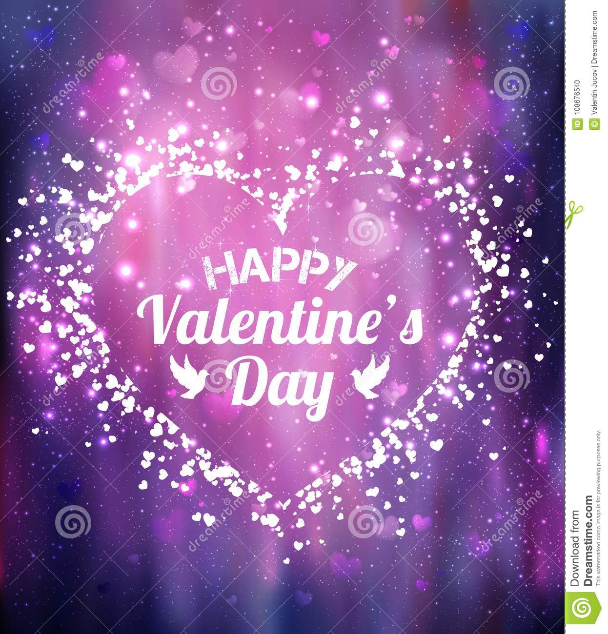 Happy Valentines Day greeting card. I Love You. 14 February