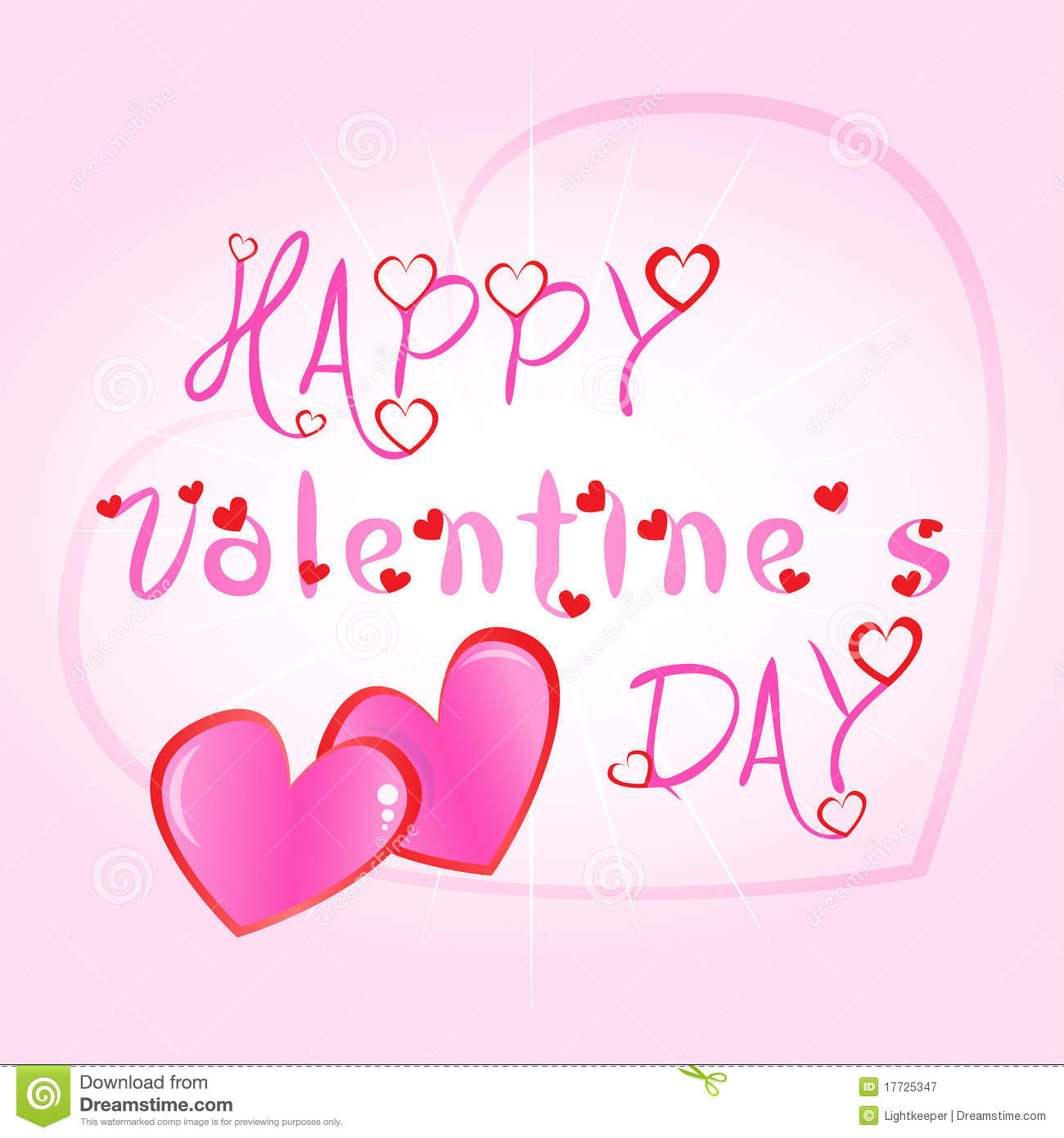 Happy Valentines Day Greeting Card Illustration Stock Vector