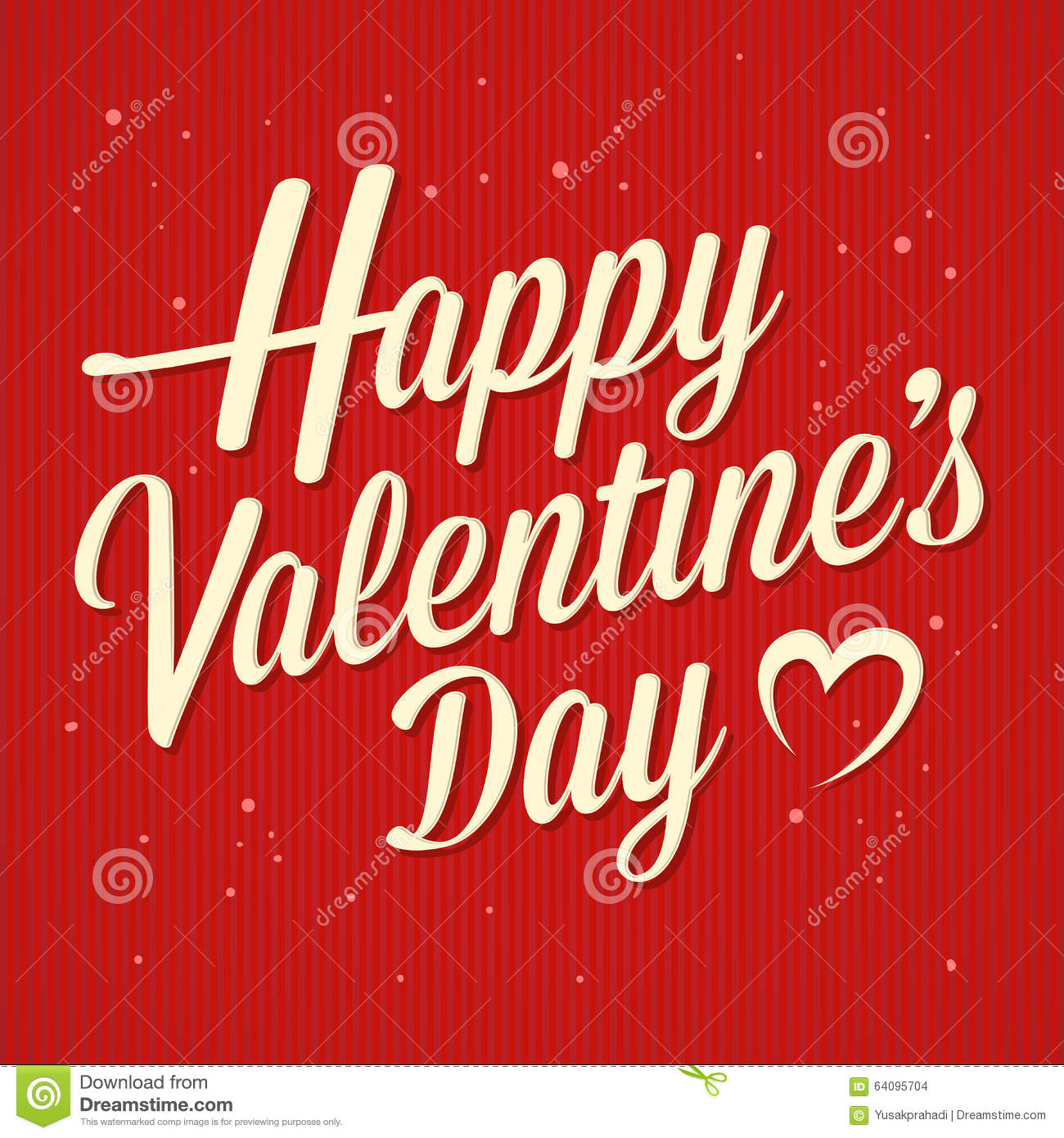 Happy Valentines Day Greetings Text Stock Vector Illustration Of