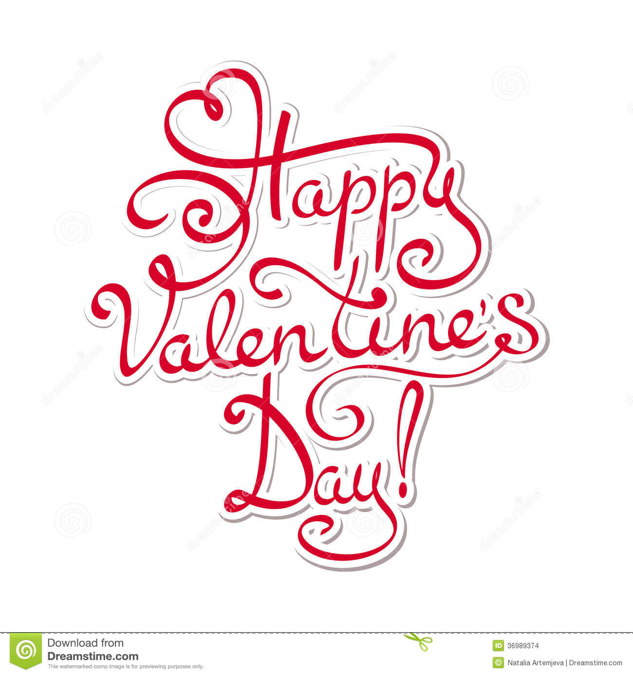Happy Valentines Day Stock Vector Illustration Of Date 36989374