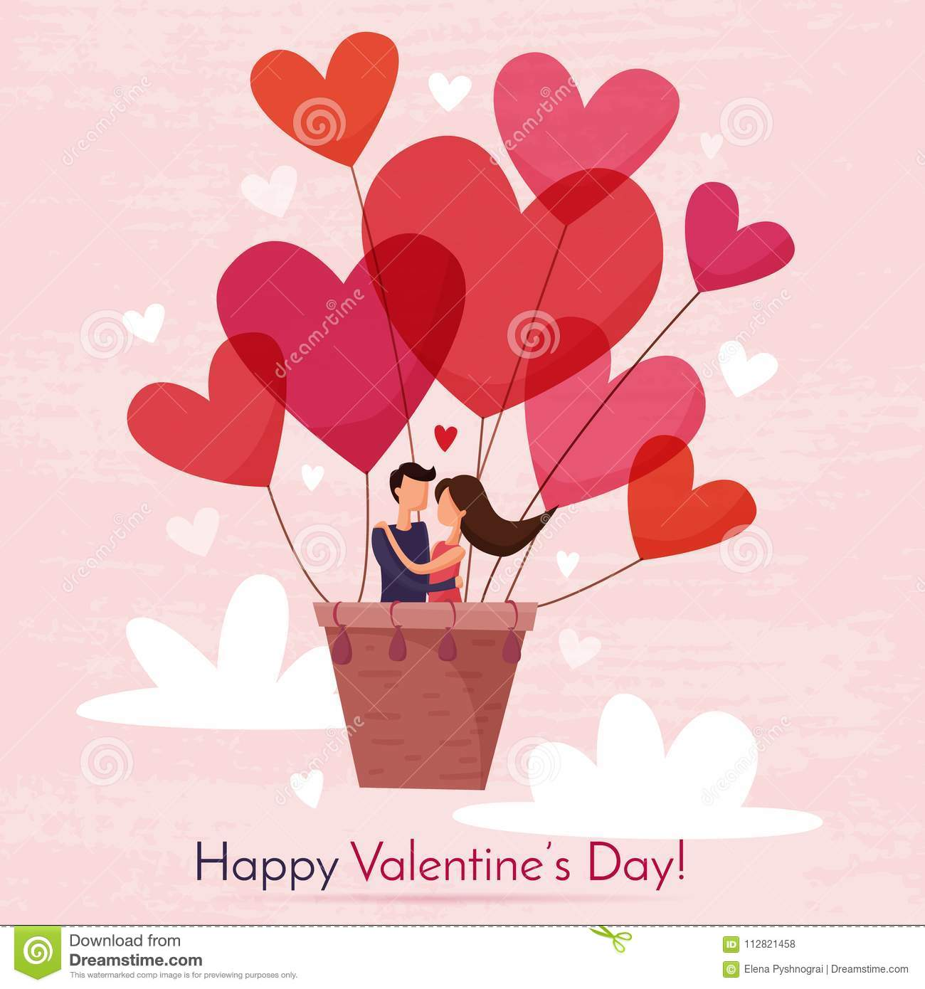 Happy Valentines Day Stock Vector Illustration Of Lover 112821458