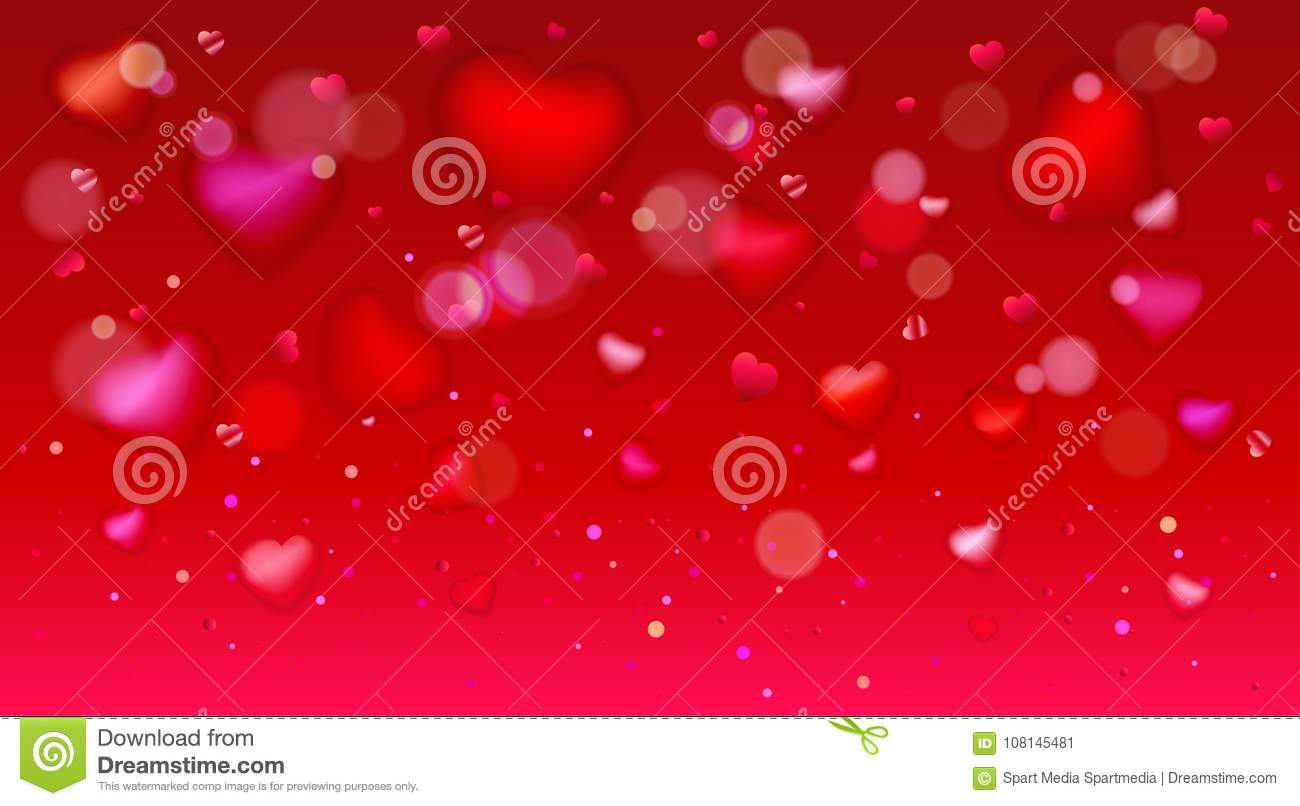 Happy Valentines Day Hearts Template Greeting Card Stock Vector