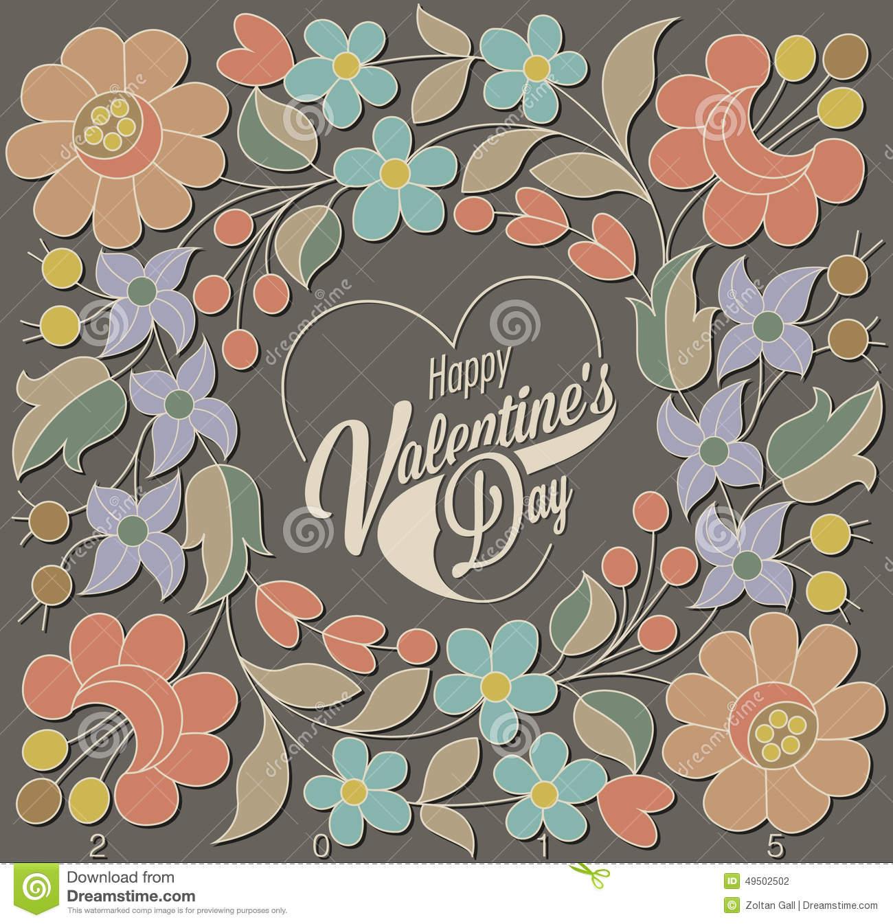 Download Happy Valentines Day. stock illustration. Illustration of anniversary - 49502502