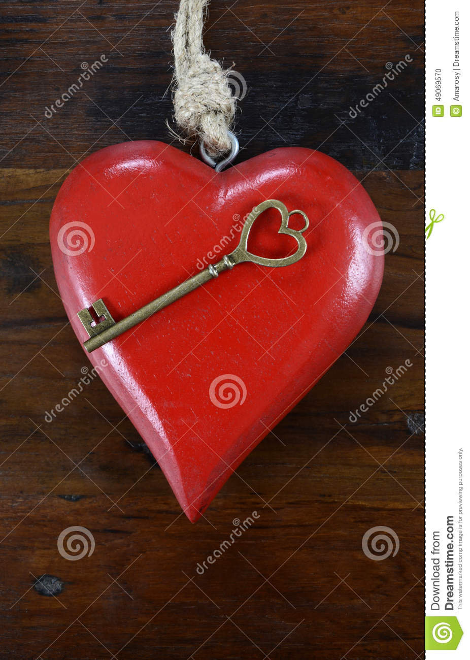 Happy Valentines Day Key To My Heart Concept Stock Photo Image Of
