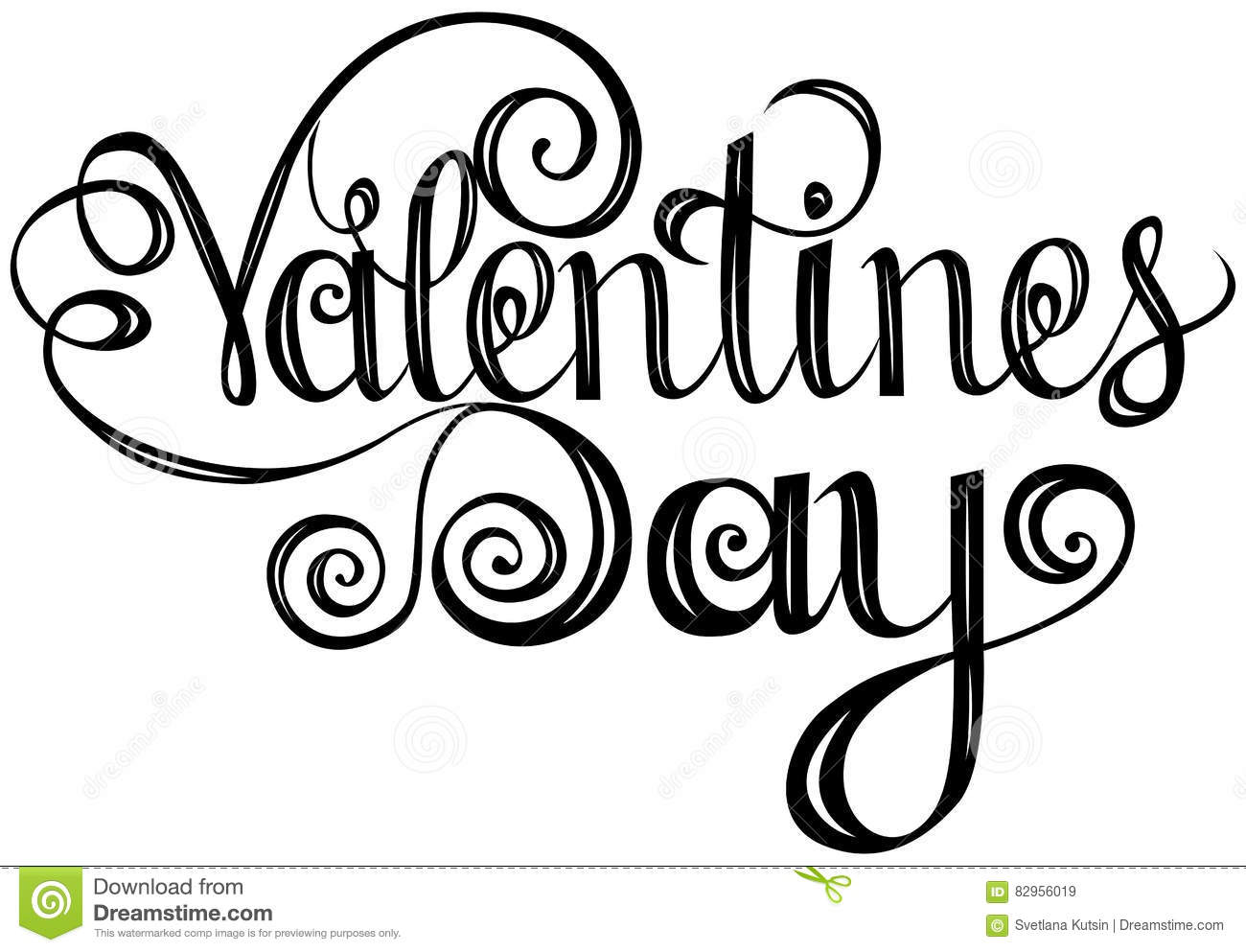 Happy Valentines Day Lettering Design Elements For Cards Stock