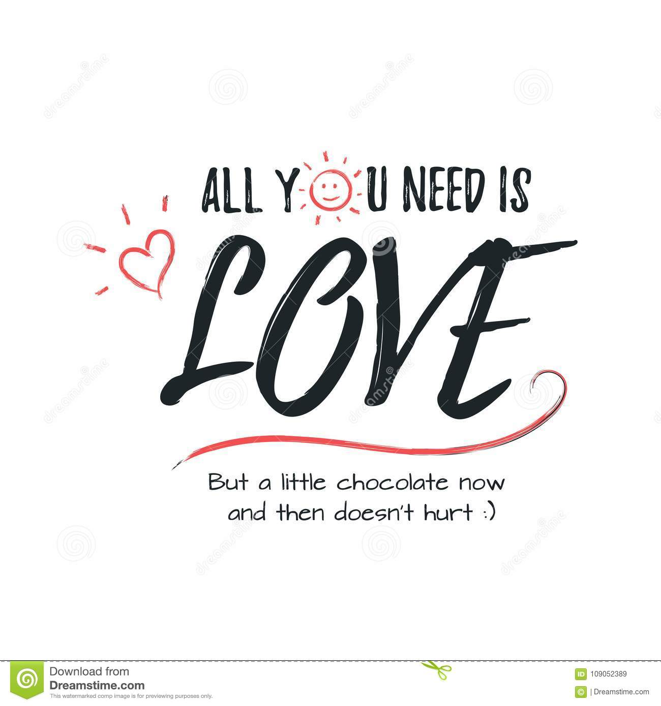 Happy Valentines Day Lettering Greeting Typography Poster With