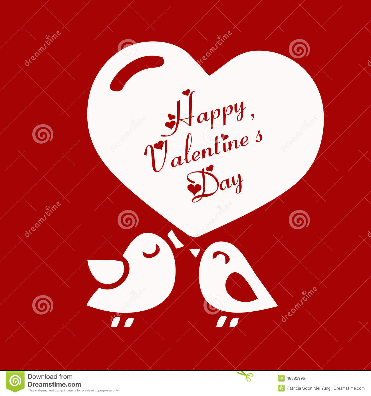 Valentines Day Card With Cute Love Birds Vector Image – Valentines Day Love Cards