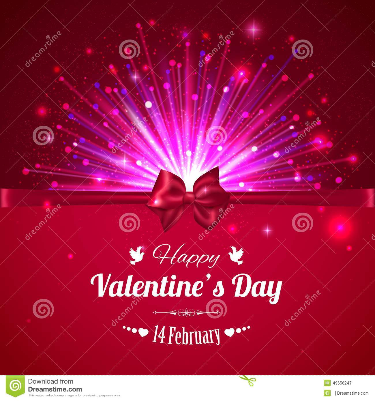 Happy Valentines Day Typographical Glow Holiday Stock Vector ...