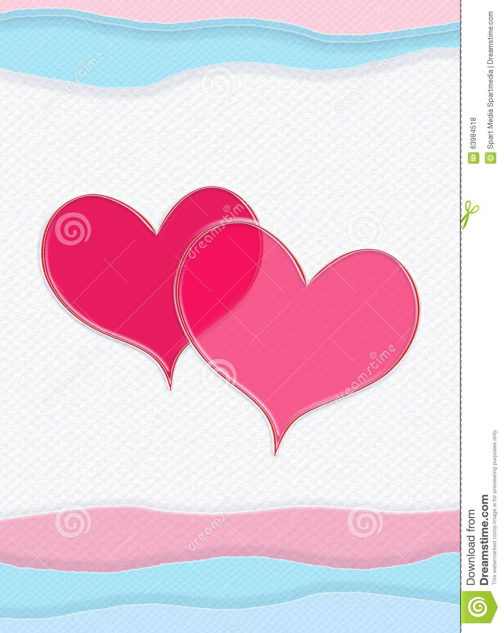 Happy Valentines Day Valentine Card Vertical Composition Stock