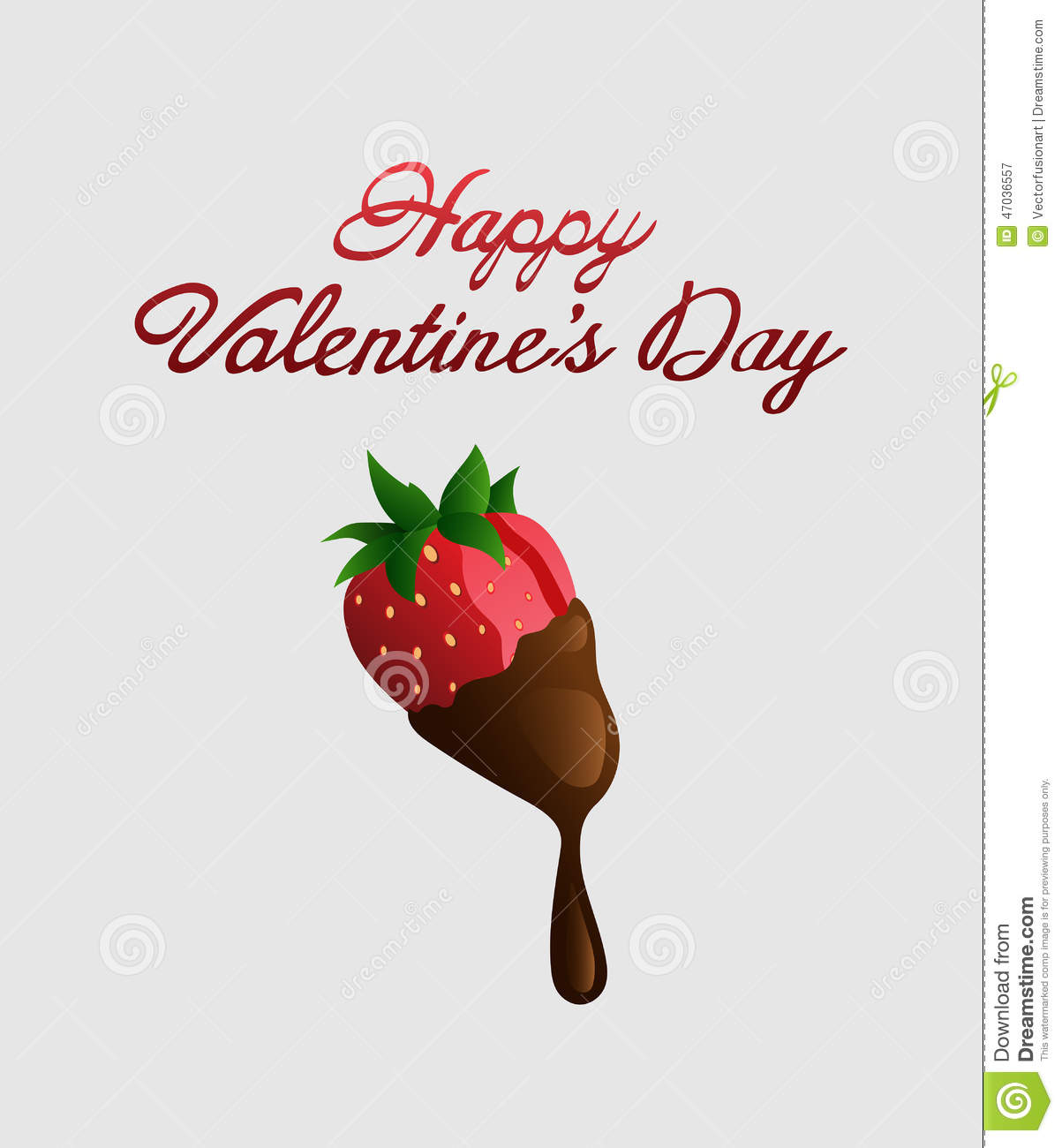 Happy Valentines Day Vector With Chocolate Strawberry Stock Vector Illustration Of Treat Love 47036557