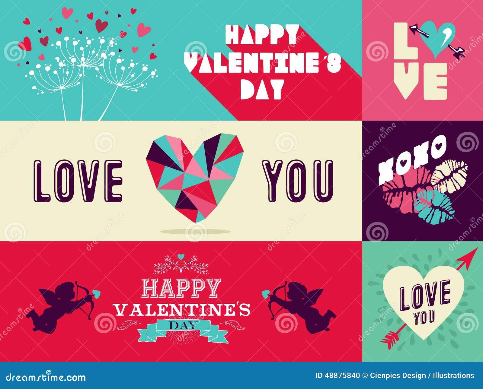 Happy Valentines Day Web Banner Set Stock Vector ... Happy Valentines Day Banner Printable