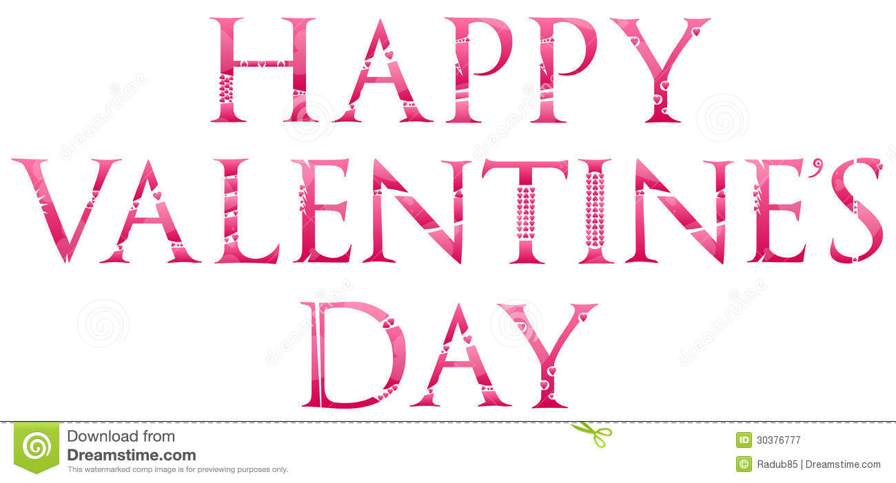 Happy Valentines Day Stock Vector Illustration Of Calligraphy