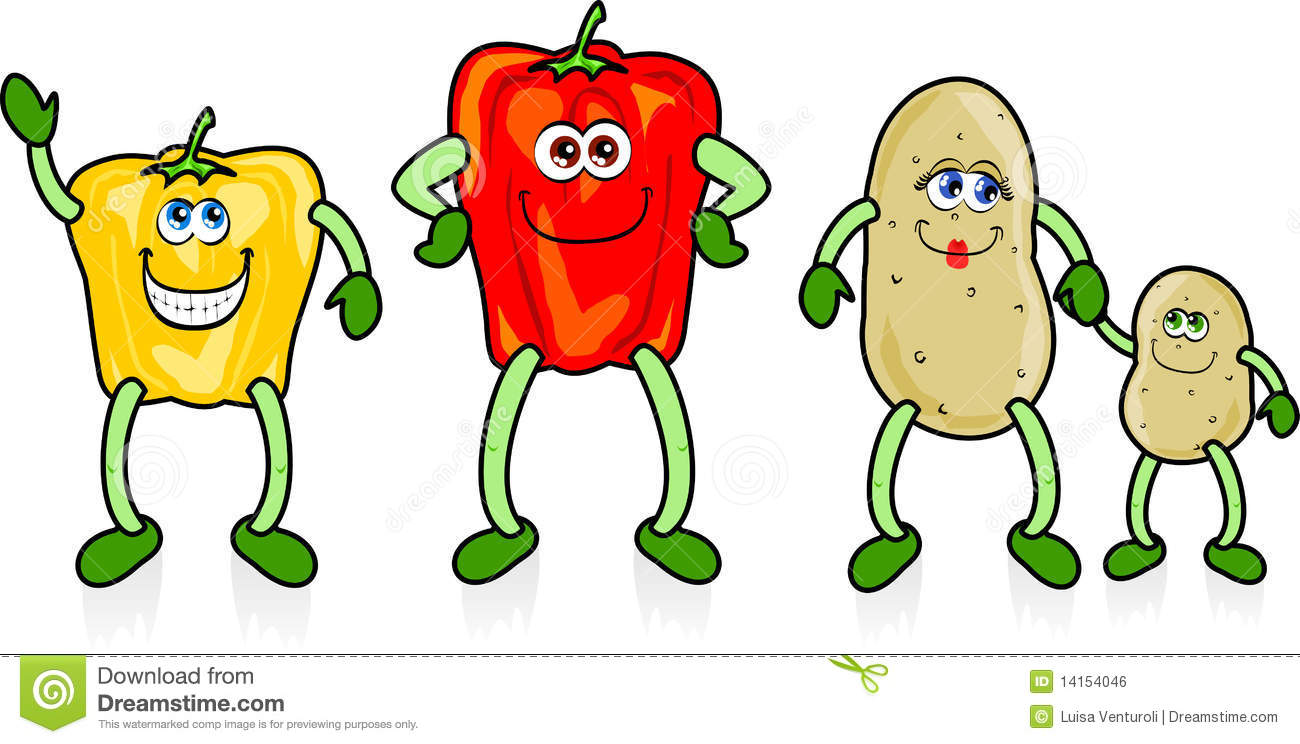 Happy vegetables stock vector. Illustration of funny ... Happy Vegetables