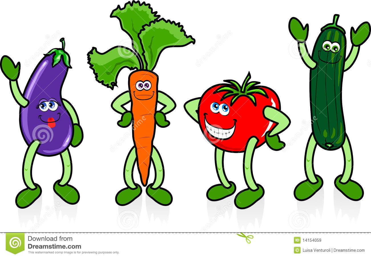 Happy Vegetables Royalty Free Stock Images - Image: 14154059 Happy Vegetables