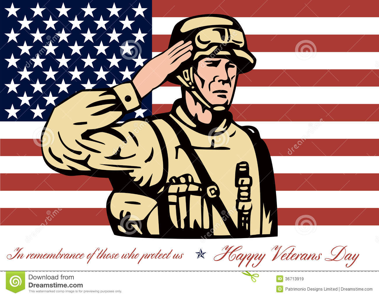 Happy veterans day greeting card soldier salute stock illustration happy veterans day greeting card soldier salute m4hsunfo