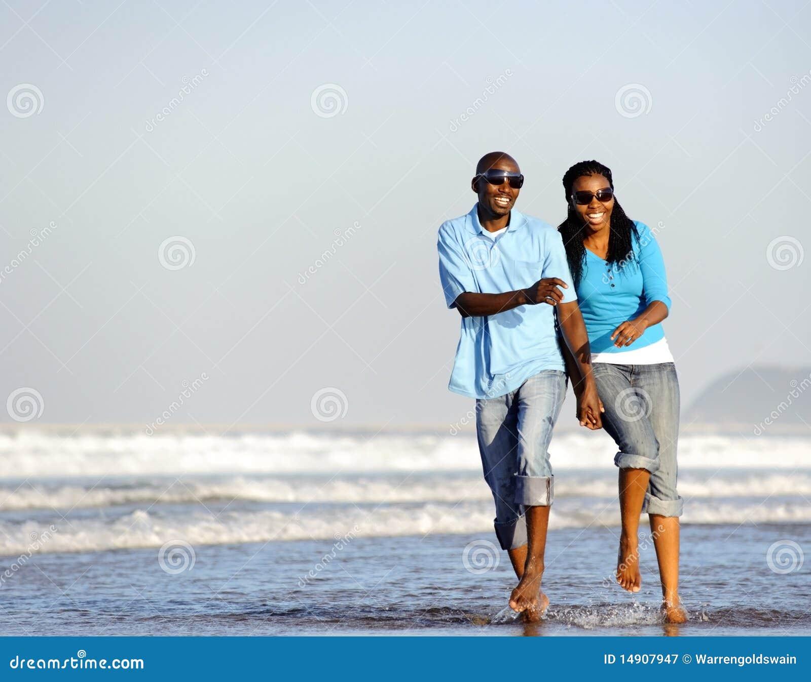 Happy Walking Couple Stock Image. Image Of Sunglasses