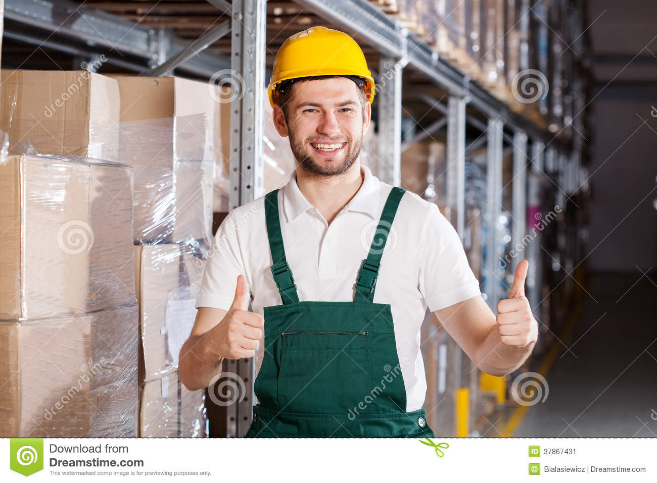 Happy warehouse worker stock image image 37867431 royalty free stock photo download happy warehouse worker sciox Choice Image