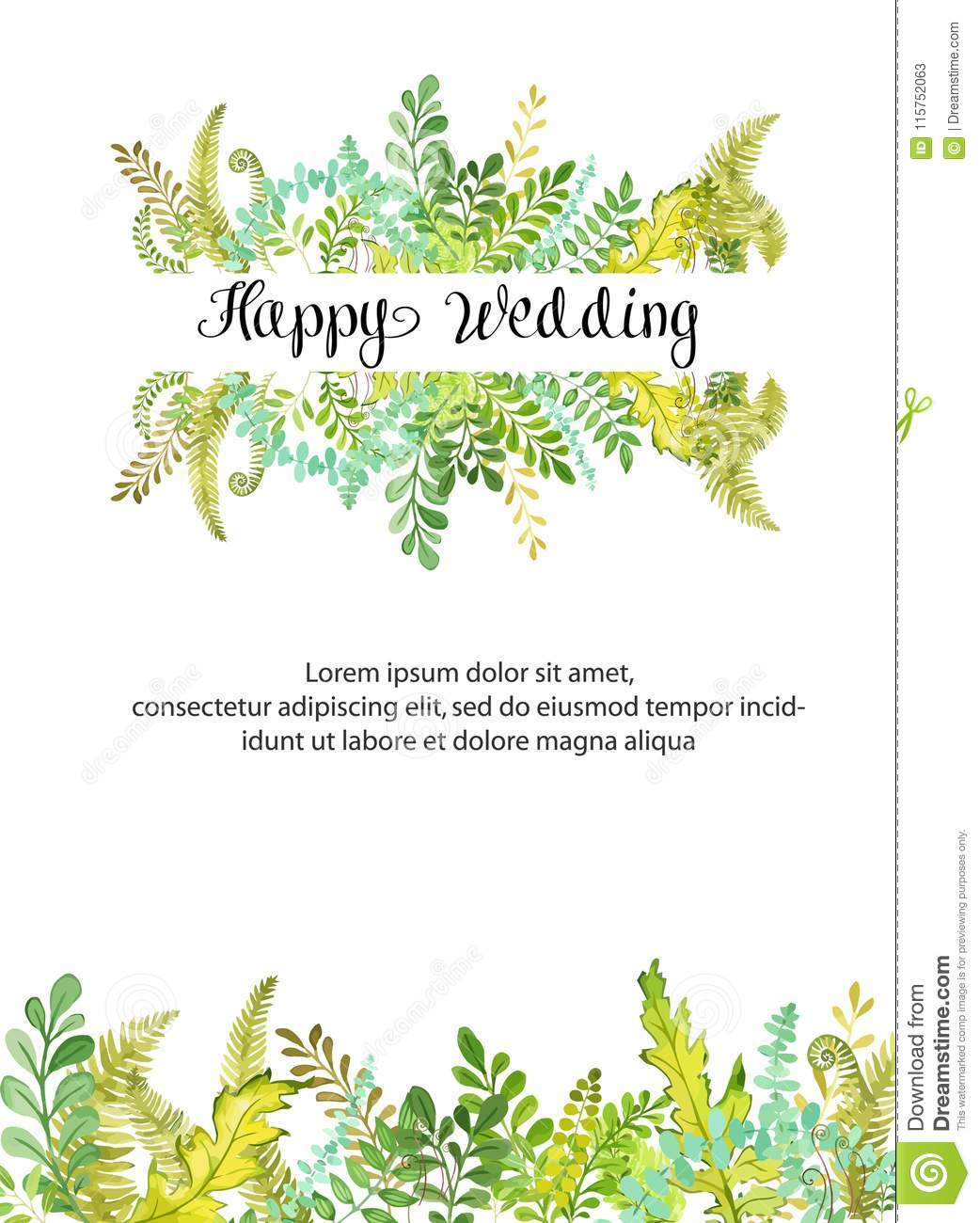 happy wedding banner background invitation modern card design vector illustration with watercolor style of foliage stock illustration illustration of greenery date 115752063 https www dreamstime com happy wedding banner background invitation modern card design vector illustration watercolor style foliage happy wedding image115752063