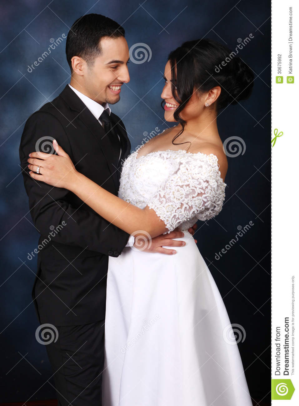 Happy Wedding Couple in Love