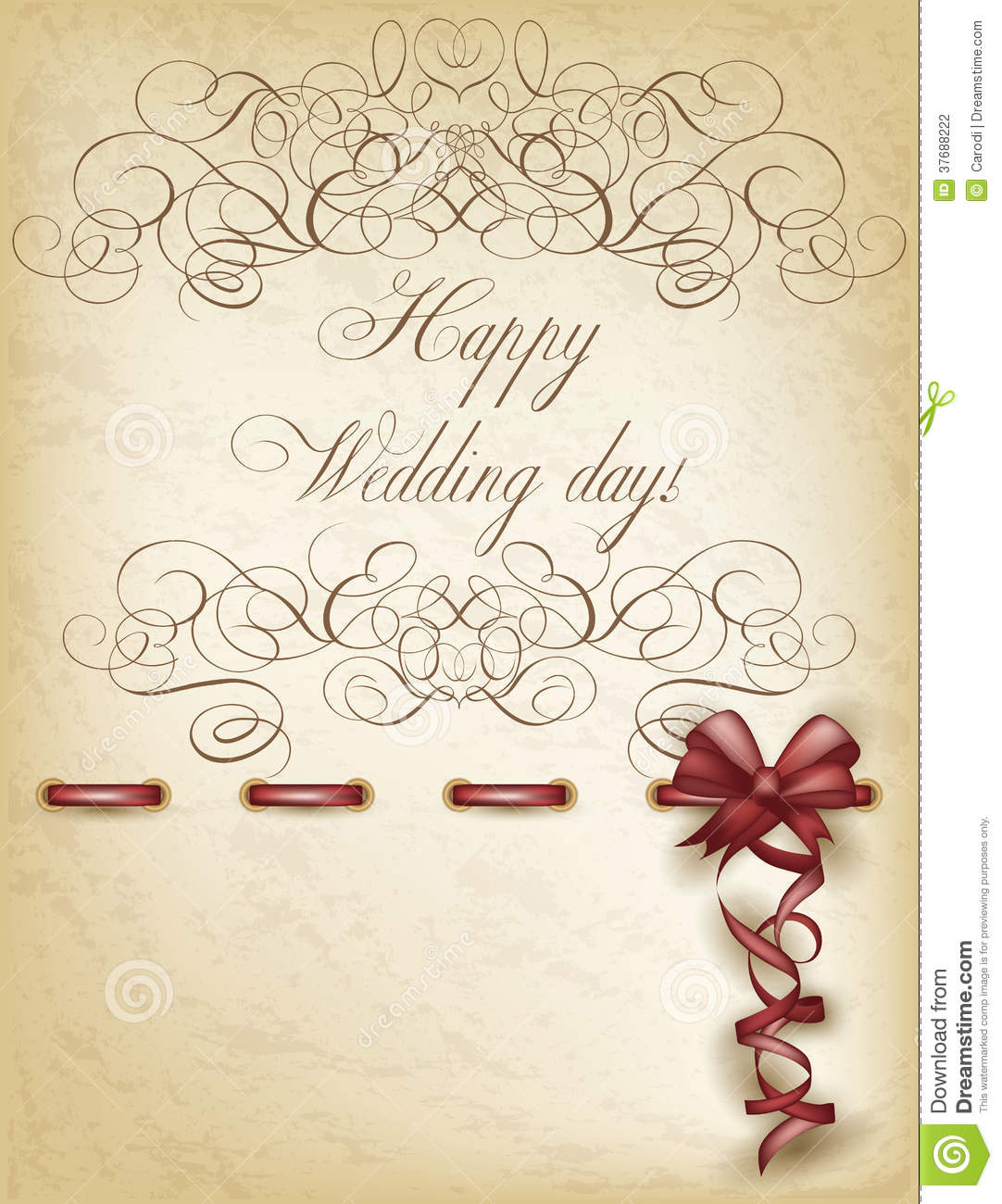 Happy Wedding Day Old Paper Stock Photography - Image ...