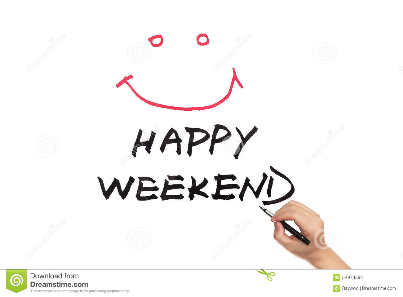 Happy Weekend Stock Photo - Image: 54974594