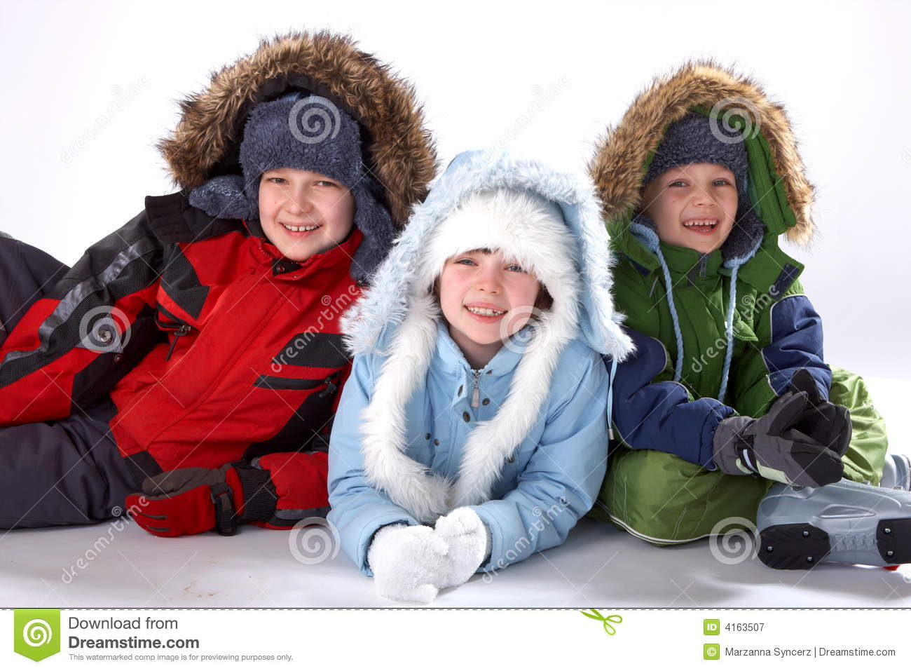 Happy Winter Children Royalty Free Stock Photography - Image: 4163507