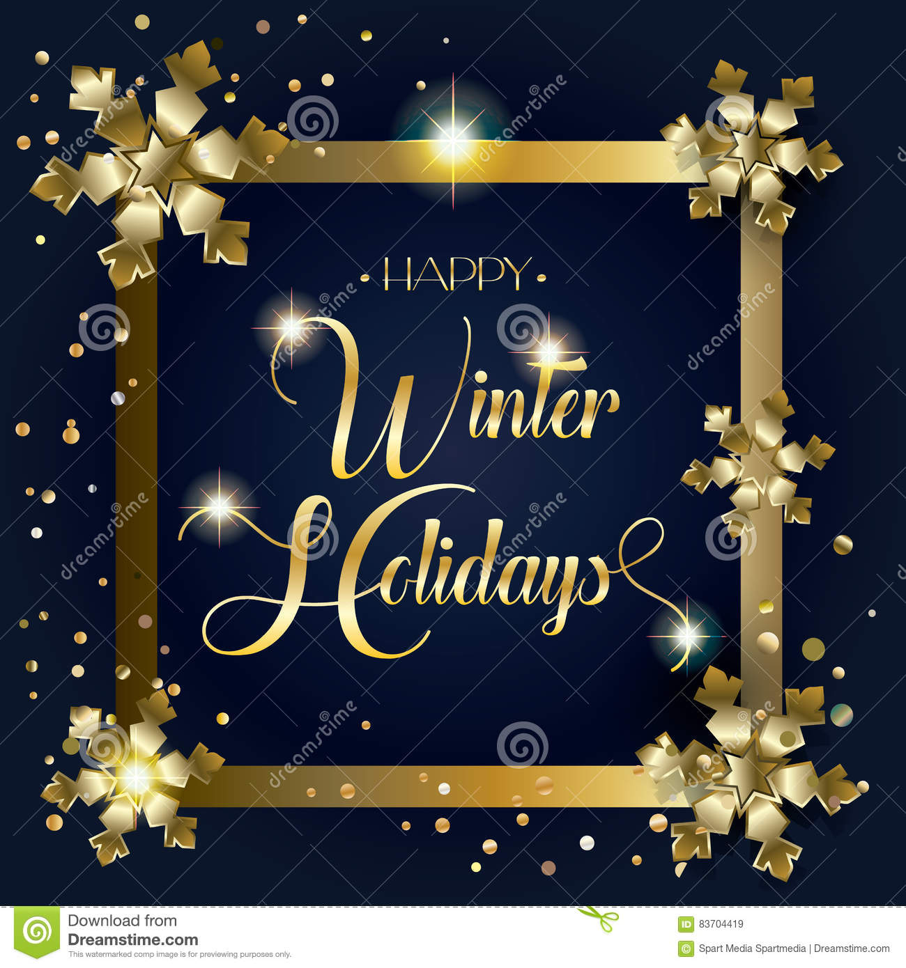 Download Happy Winter Holidays stock vector. Illustration of holiday - 83704419
