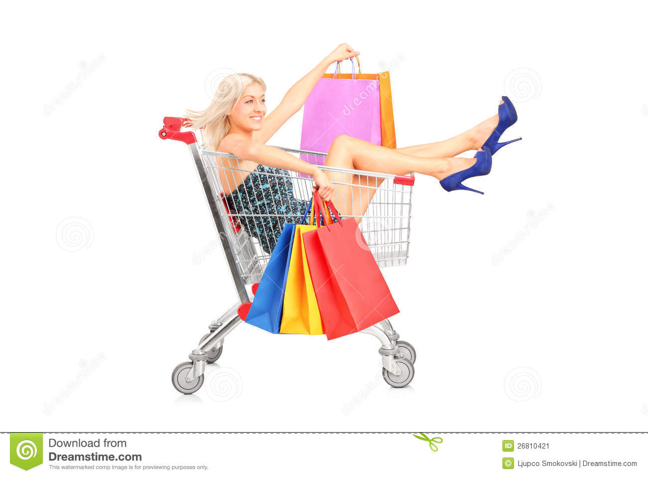 happy-woman-bags-sitting-shopping-cart-2