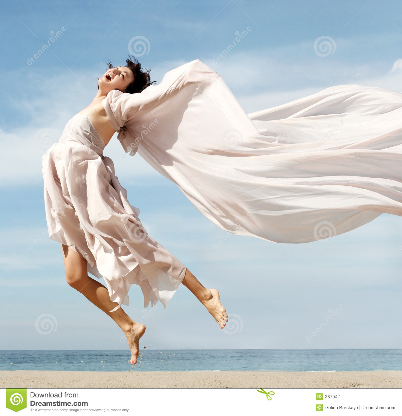 Happy Woman On The Beach Royalty Free Stock Photography - Image ...