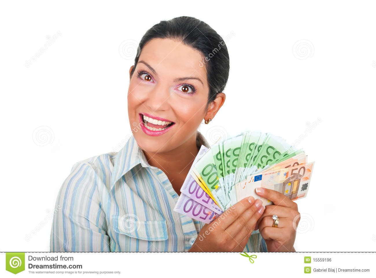 Happy Woman Holding Money Royalty Free Stock Image - Image ...