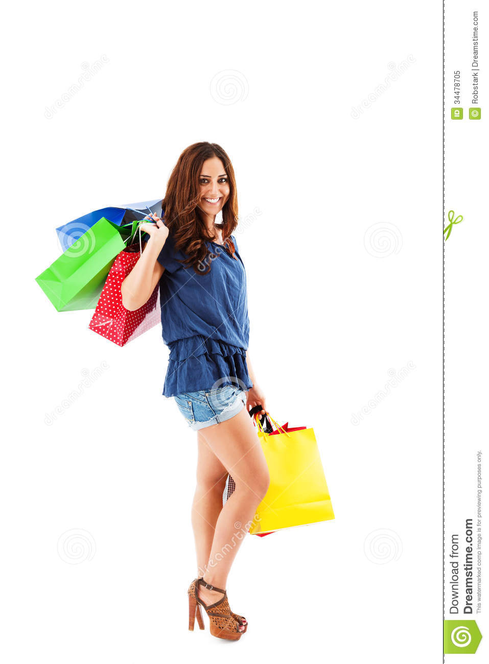 Model Young Woman Holding Bags Stock Photo | Getty Images