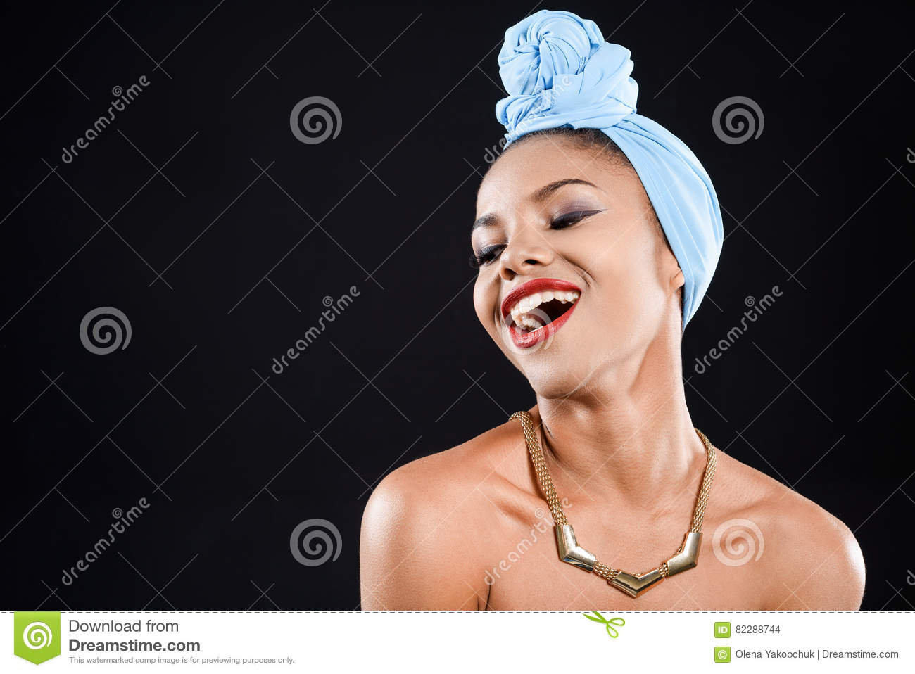 Happy woman is laughing
