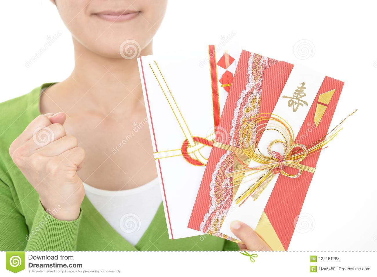 special envelope for monetary gifts stock photo image of female