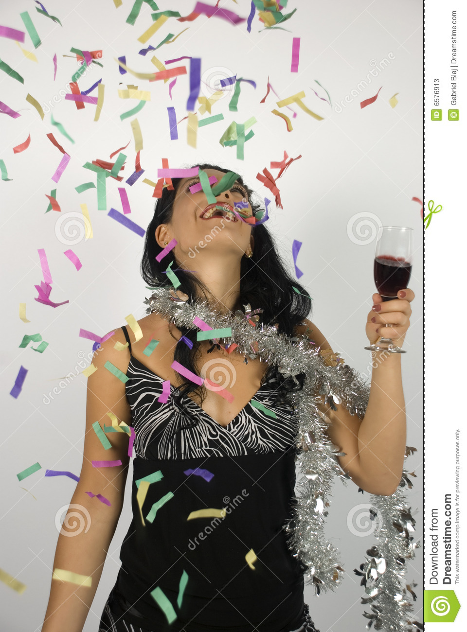 Happy woman new year party